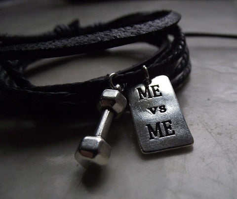Fitness Leather Bracelet  ME vs ME   UNISEX - 247onlinemall - 1
