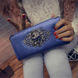 Metal Skull  Leather Wallets - 247onlinemall - 2