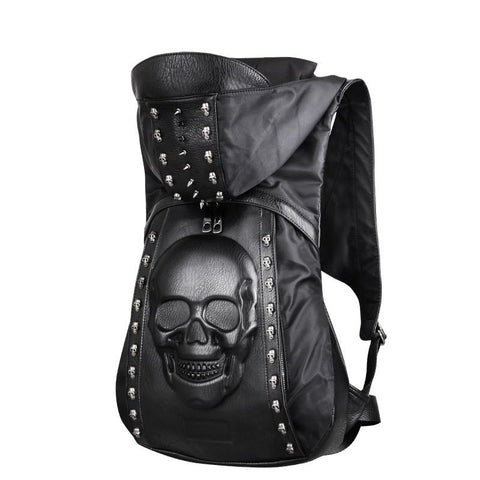 3D Skull Leather Backpack  UNISEX - 247onlinemall - 3