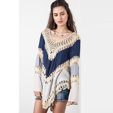 Crochet Sexy Pullover Womens Poncho