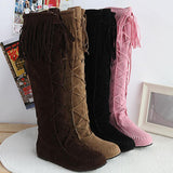 # 1 Flat Heels Long Boots Woman - 247onlinemall - 1