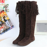 # 1 Flat Heels Long Boots Woman - 247onlinemall - 6