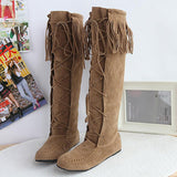 # 1 Flat Heels Long Boots Woman - 247onlinemall - 3