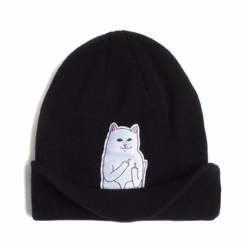 winter spring beanie new style cat wool knit hat hip hop hedging - 247onlinemall