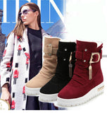 Snow Boots - Female Thermal Cotton-Padded Snow Platform