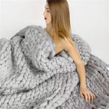 The Best Chunky Knit Blanket