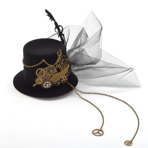 Mini Top Hat Punk Gothic  Hair Accessories