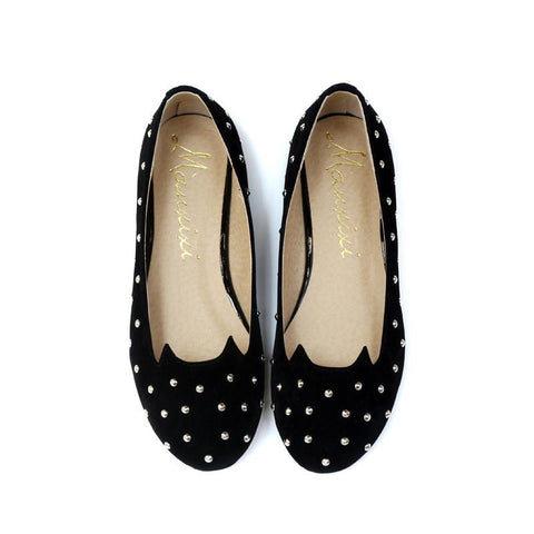 Kitty Cat Face Metal Rivets Shoes - 247onlinemall - 2