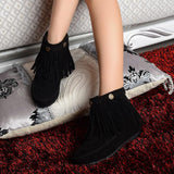 Suede  Leather Moccasin Bootie - 247onlinemall - 9
