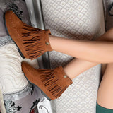 Suede  Leather Moccasin Bootie - 247onlinemall - 6