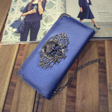 Metal Skull  Leather Wallets