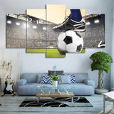 #1  Soccer Football Canvas Wall Art  5 PZ