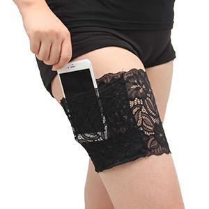 Elastic  Lace leg  Thigh BandS  Cell phone pocket - 247onlinemall - 9