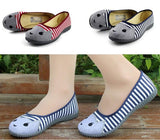 Striped Canvas Flat cat Shoes - 247onlinemall - 1