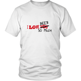 I Love BEER Humor Funny T-Shirt FREE SHIPPING - 247onlinemall
