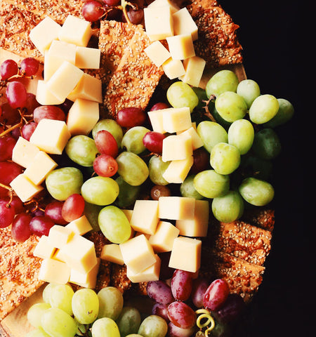 cheese and grapes board