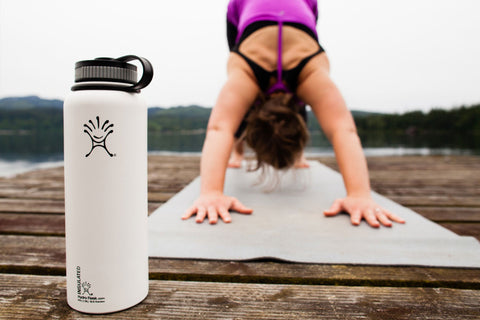 Yoga reusable water bottle