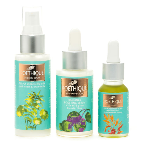 3pc Natural Skin Care Set Travel Size