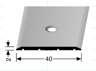Cover strips with countersunk holes