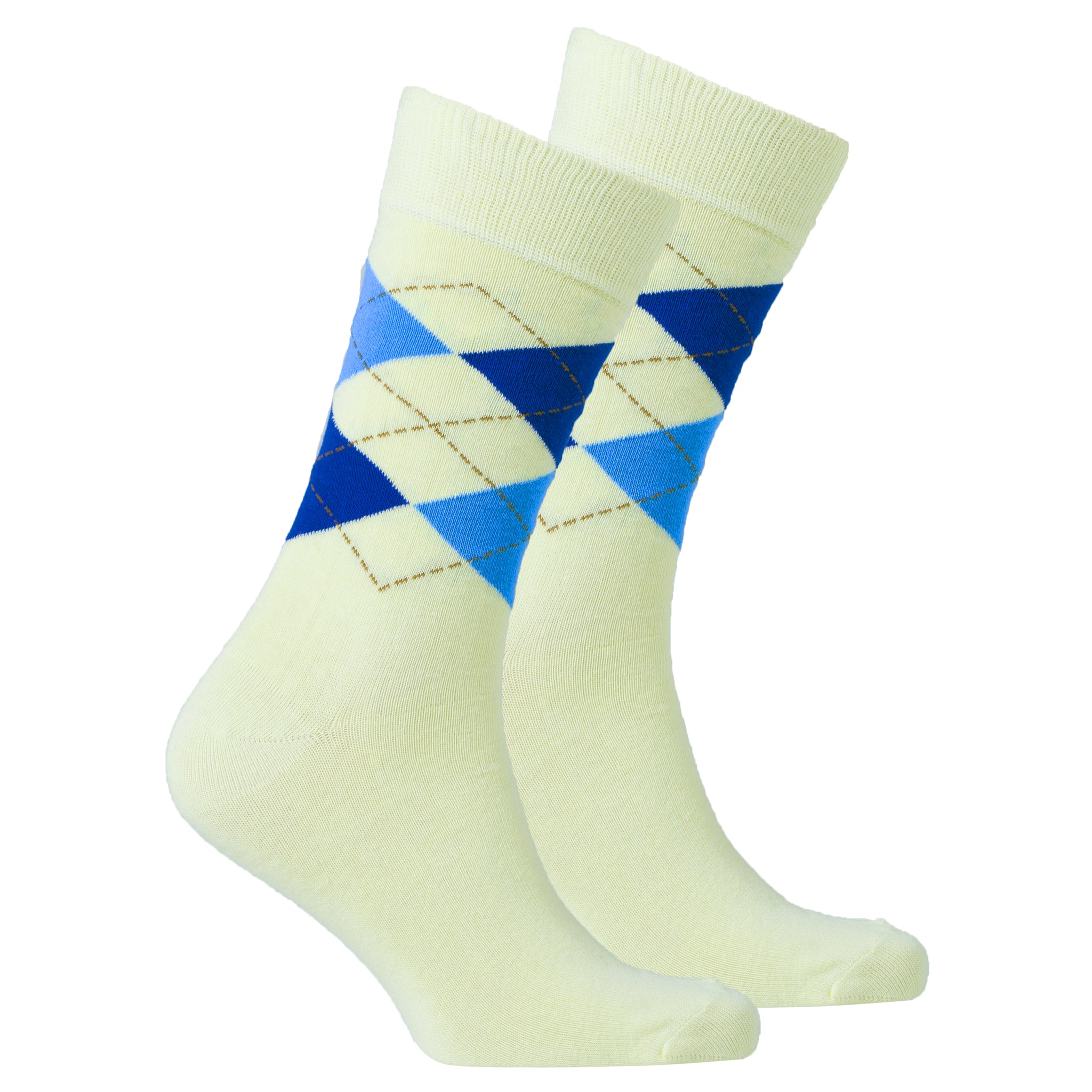 Men's Blonde Argyle Socks