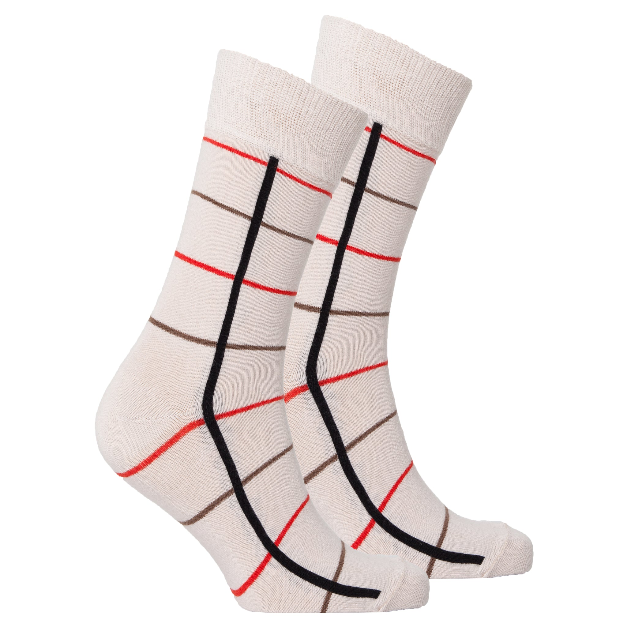 Men's Beige Stripe Socks