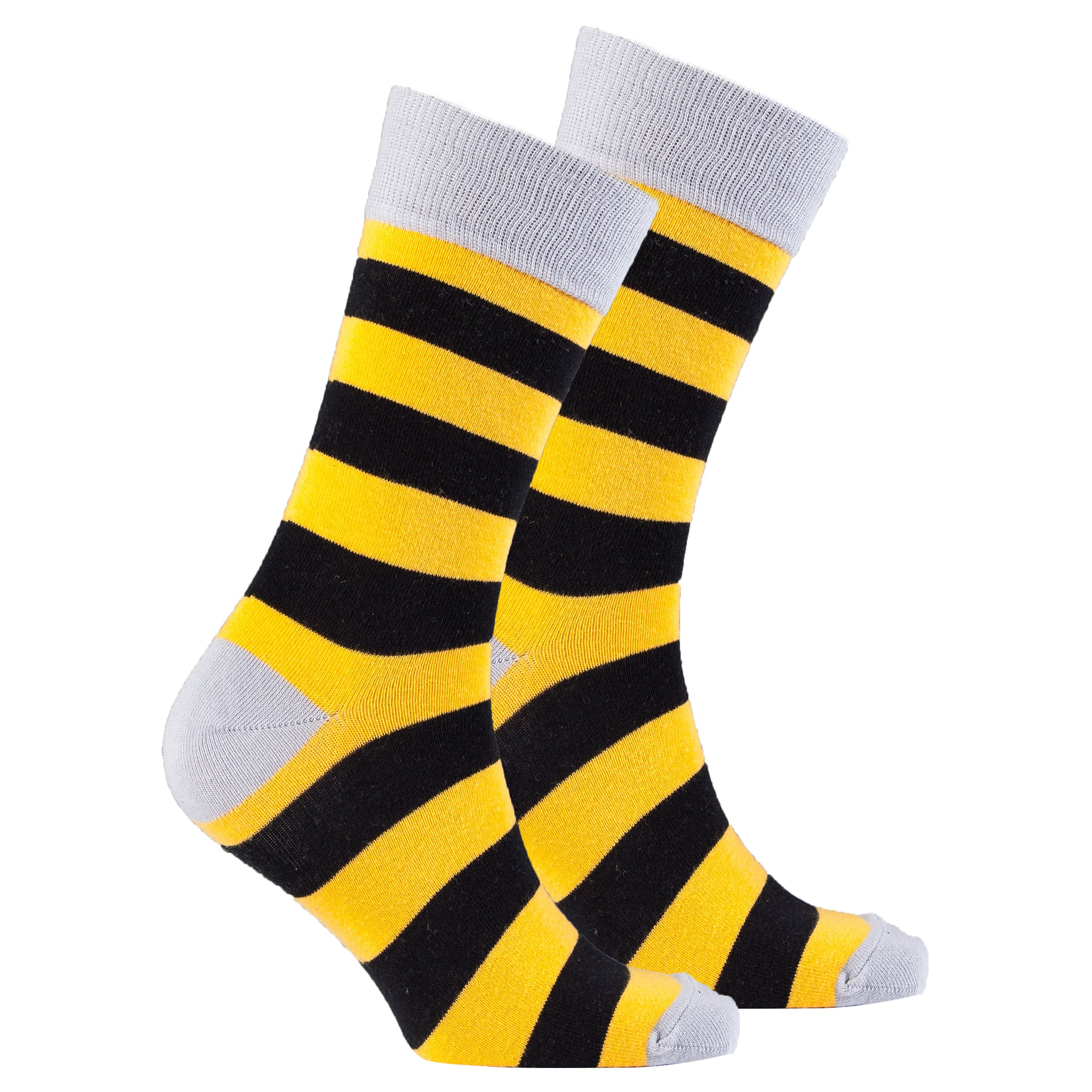 Men's Orange Stone Stripe Socks