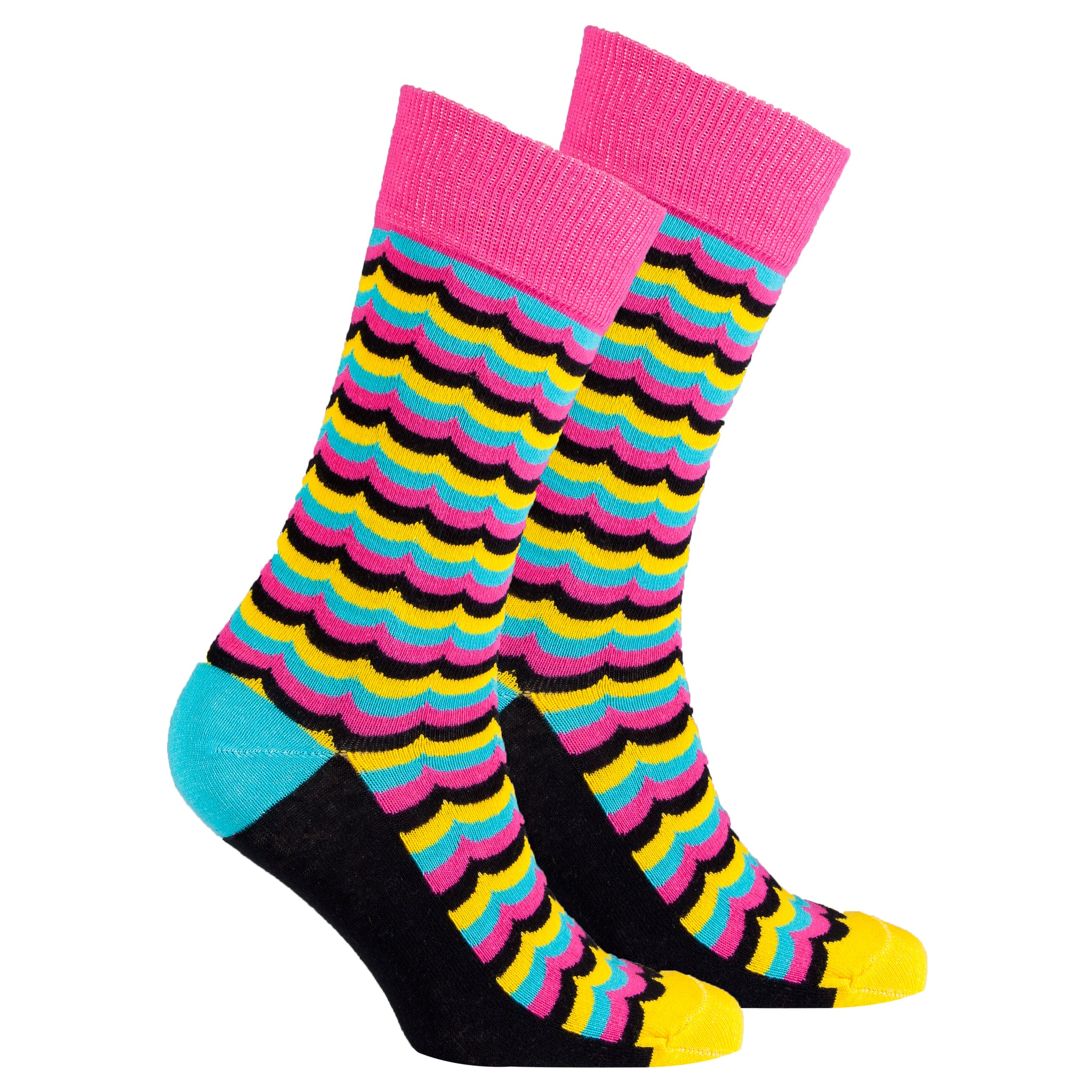 Men's Yellow Candy Wave Socks