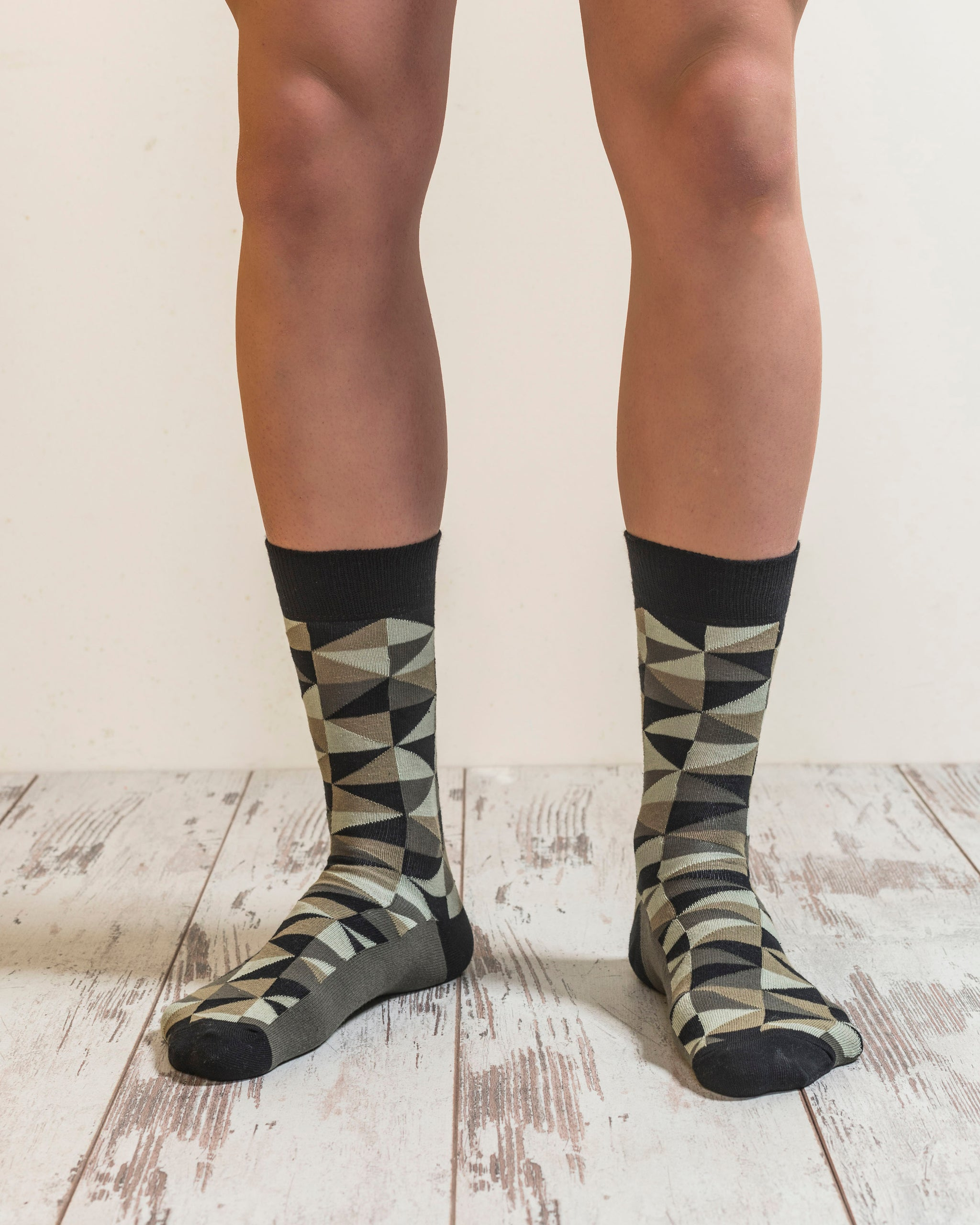 Men's Olive Green Mix Set Socks