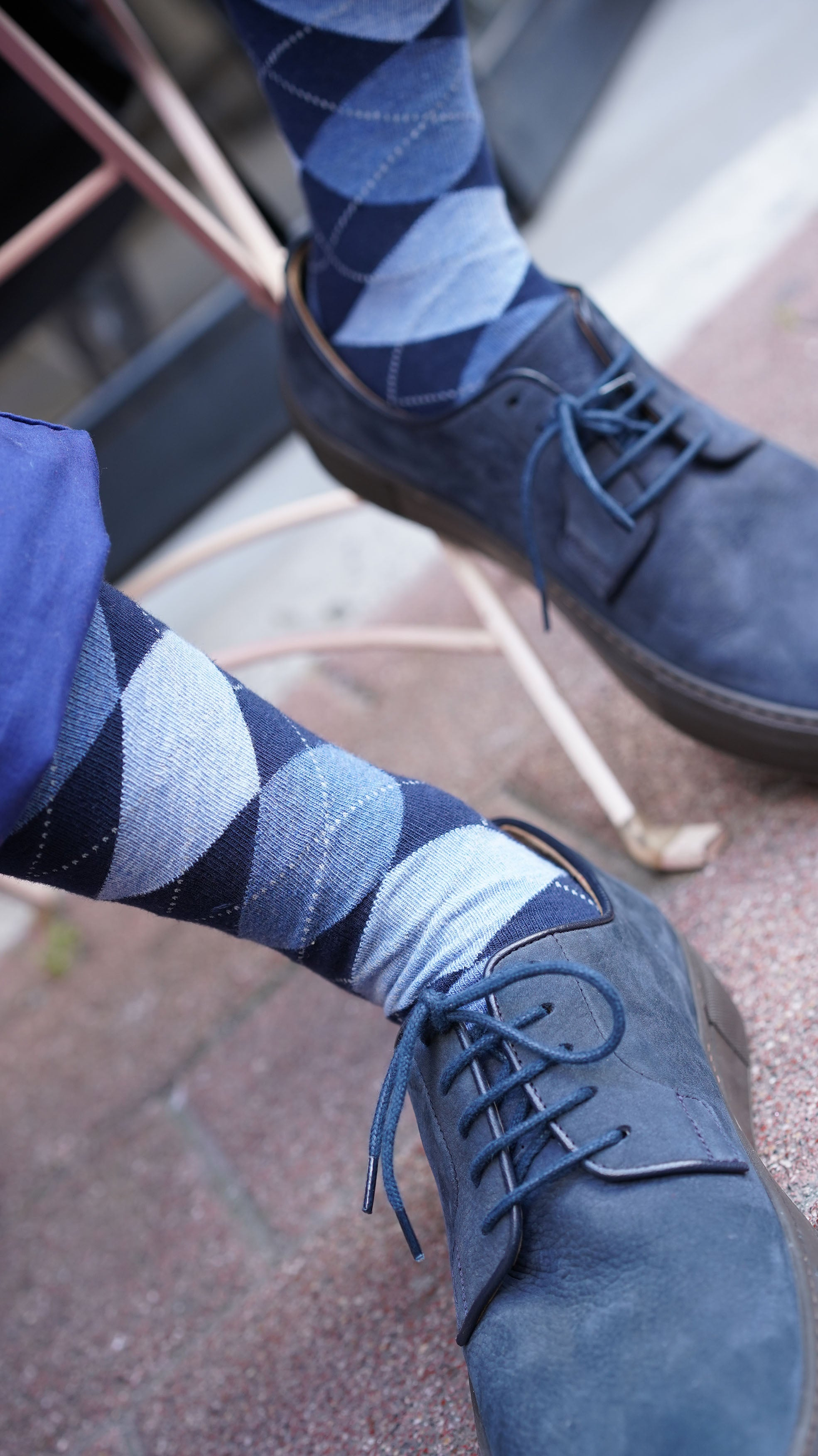 Men's Azure Argyle Socks