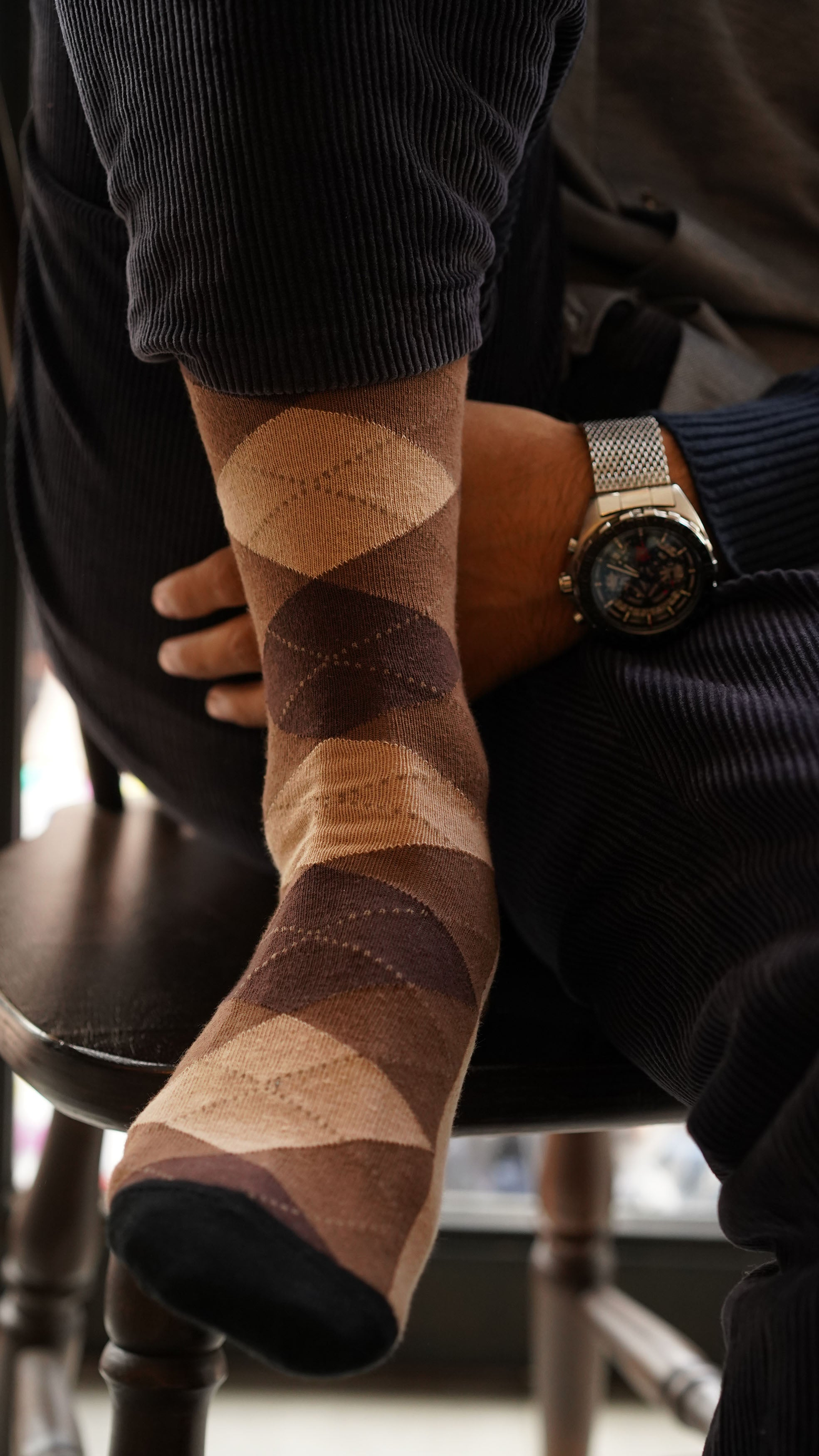 Men's Sand Argyle Socks