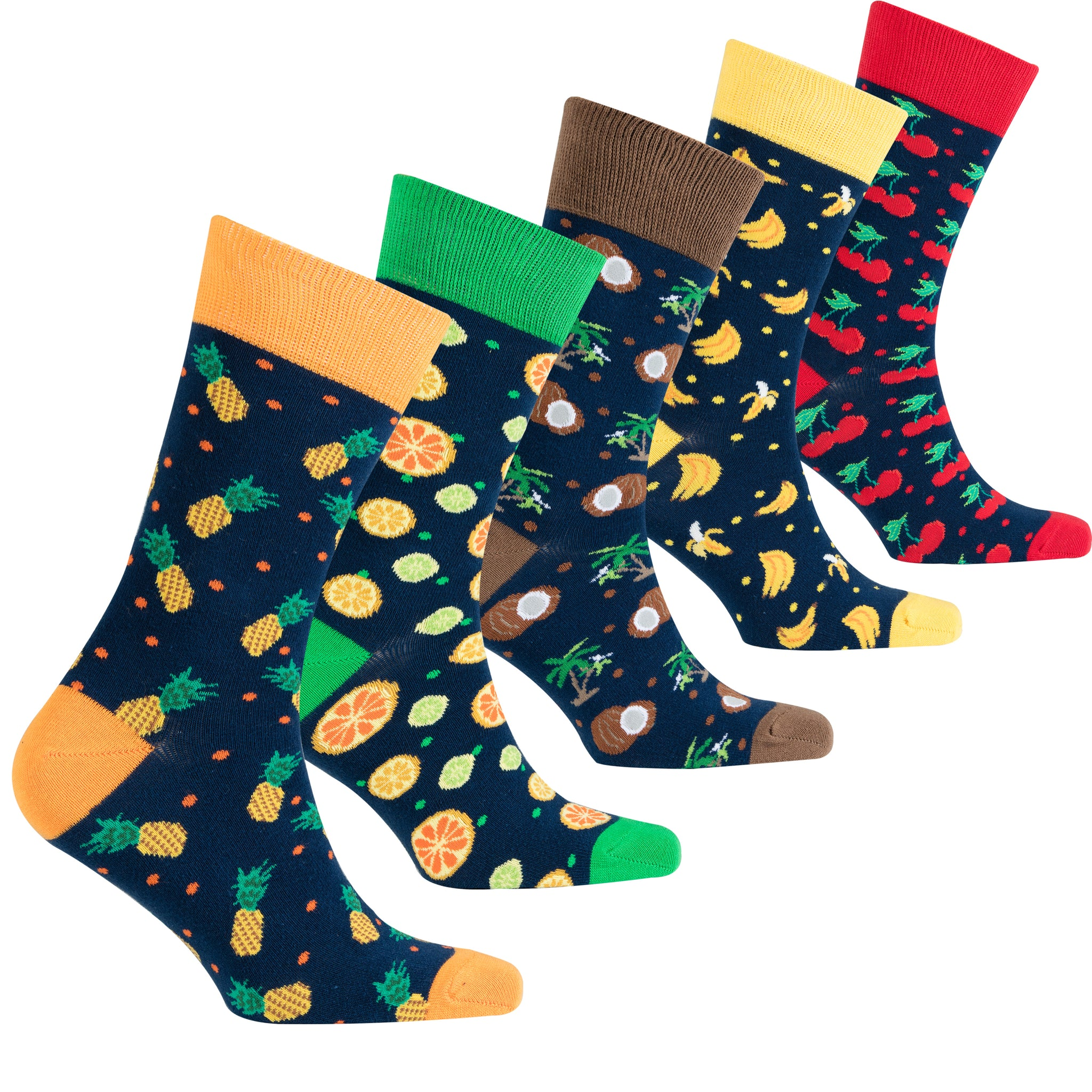 Men's Cheerful Fruits Socks