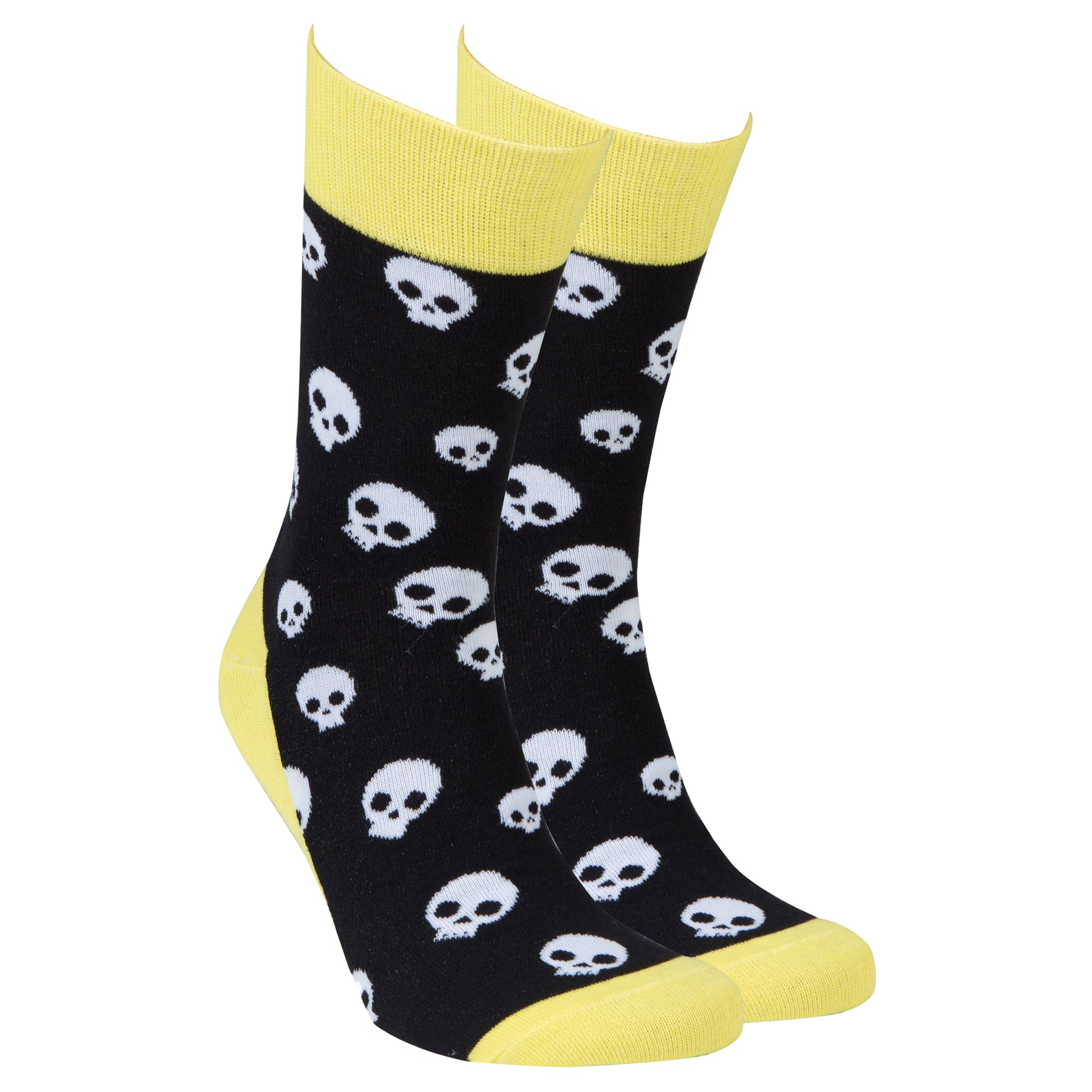 Men's Skulls Socks black and yellow