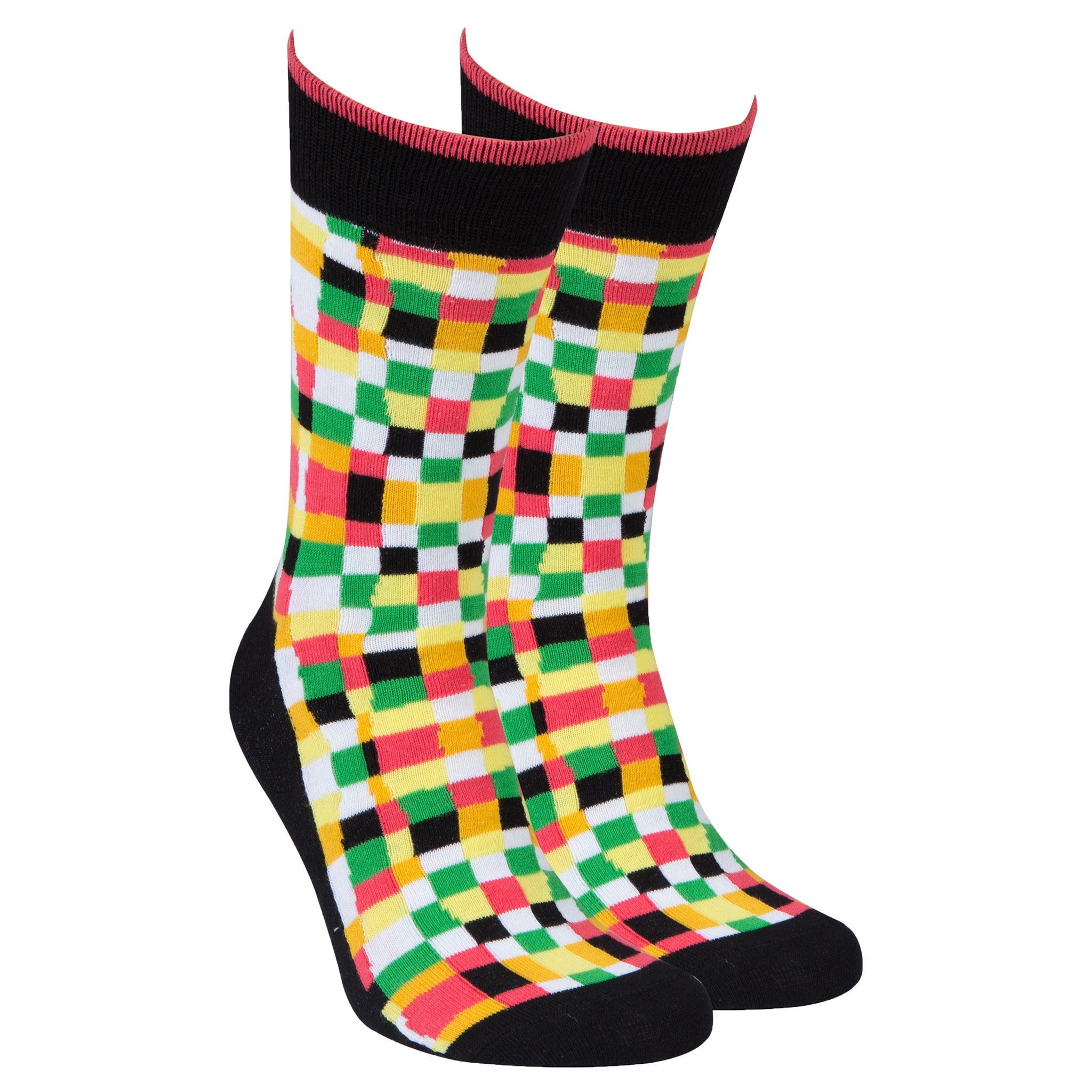 Men's Designless Squares Socks