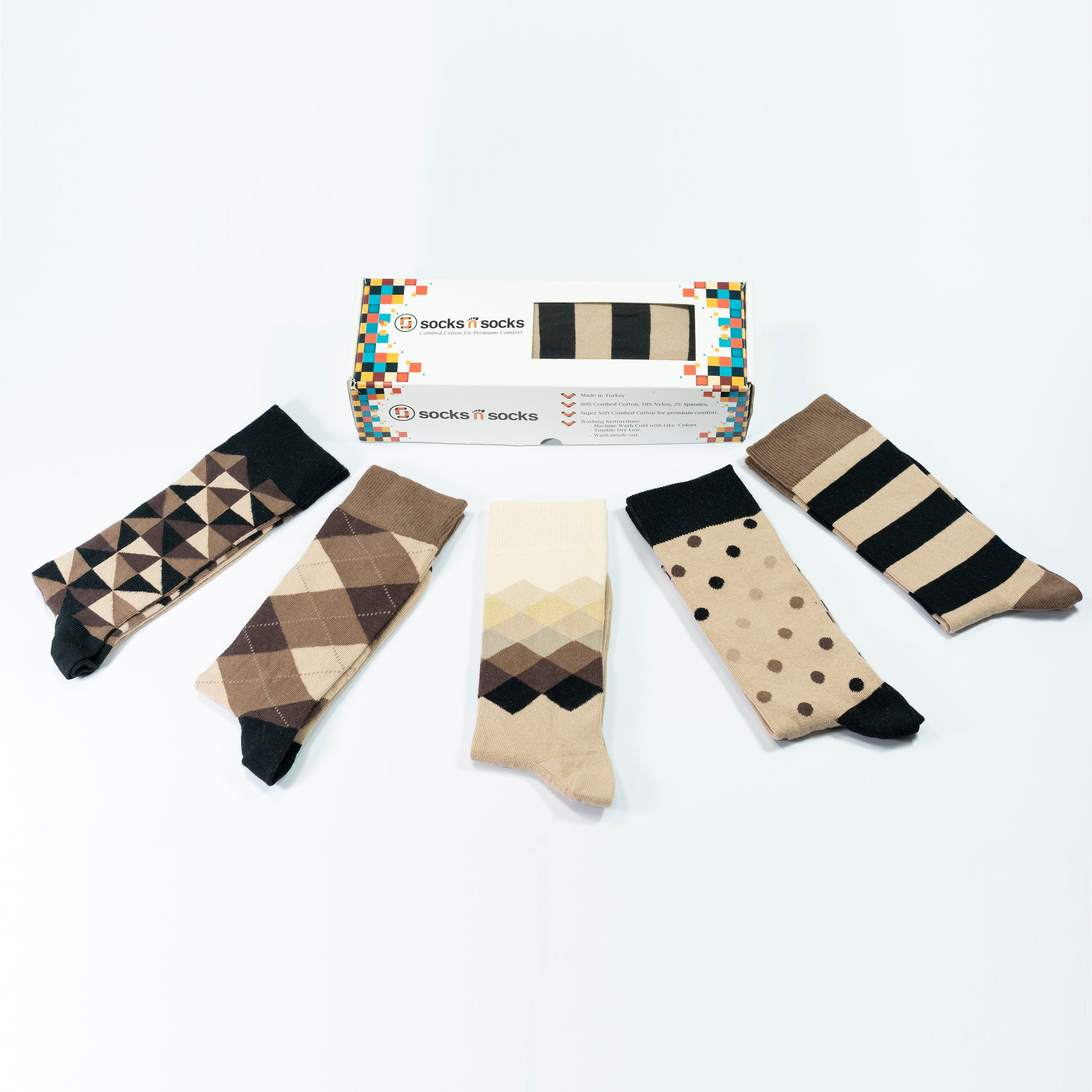 Men's Sand Mix Set Socks