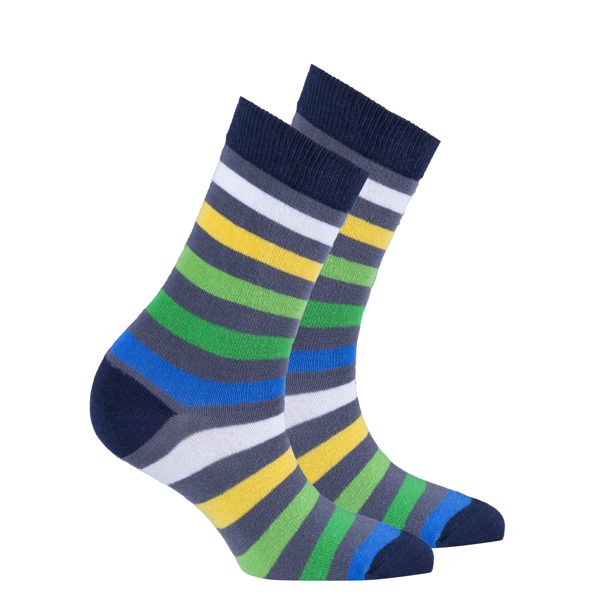 Women's Grey Emerald Stripe Socks