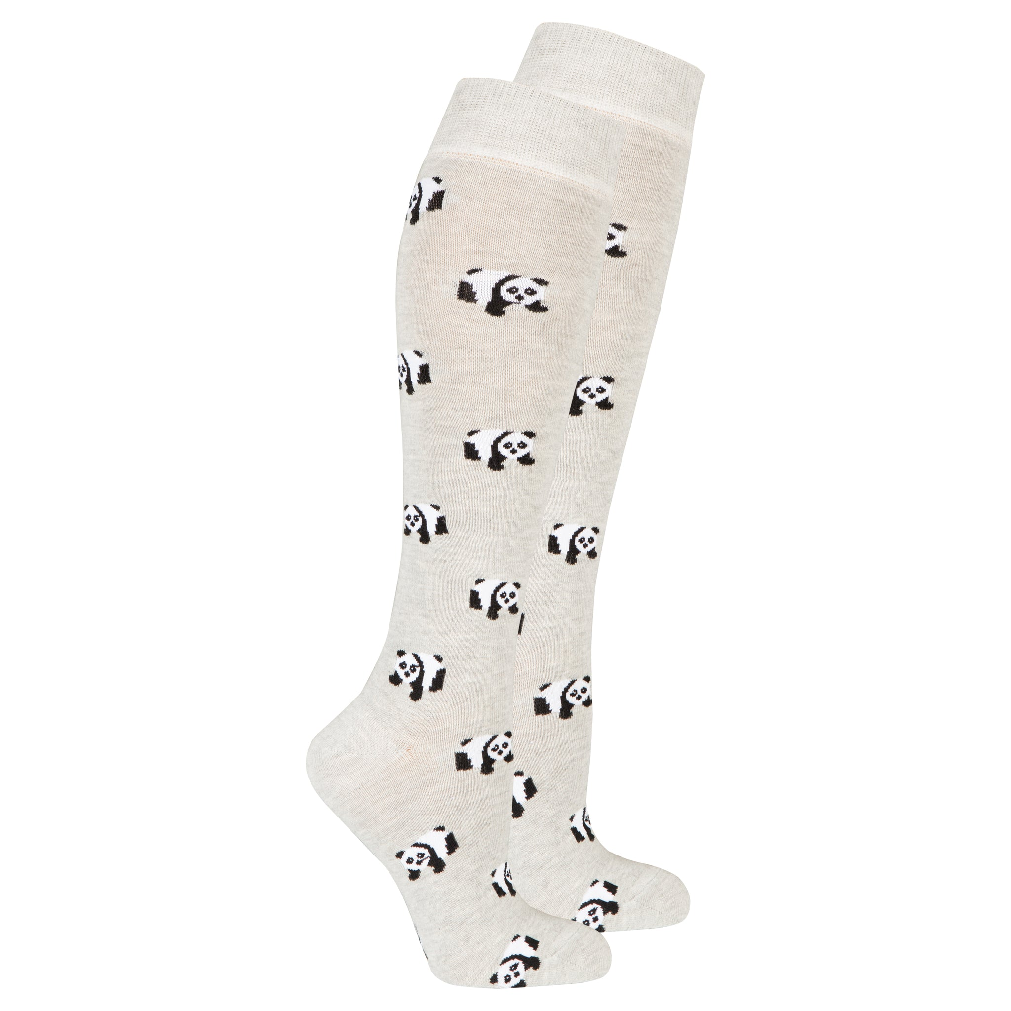 Women's Panda Knee High Socks