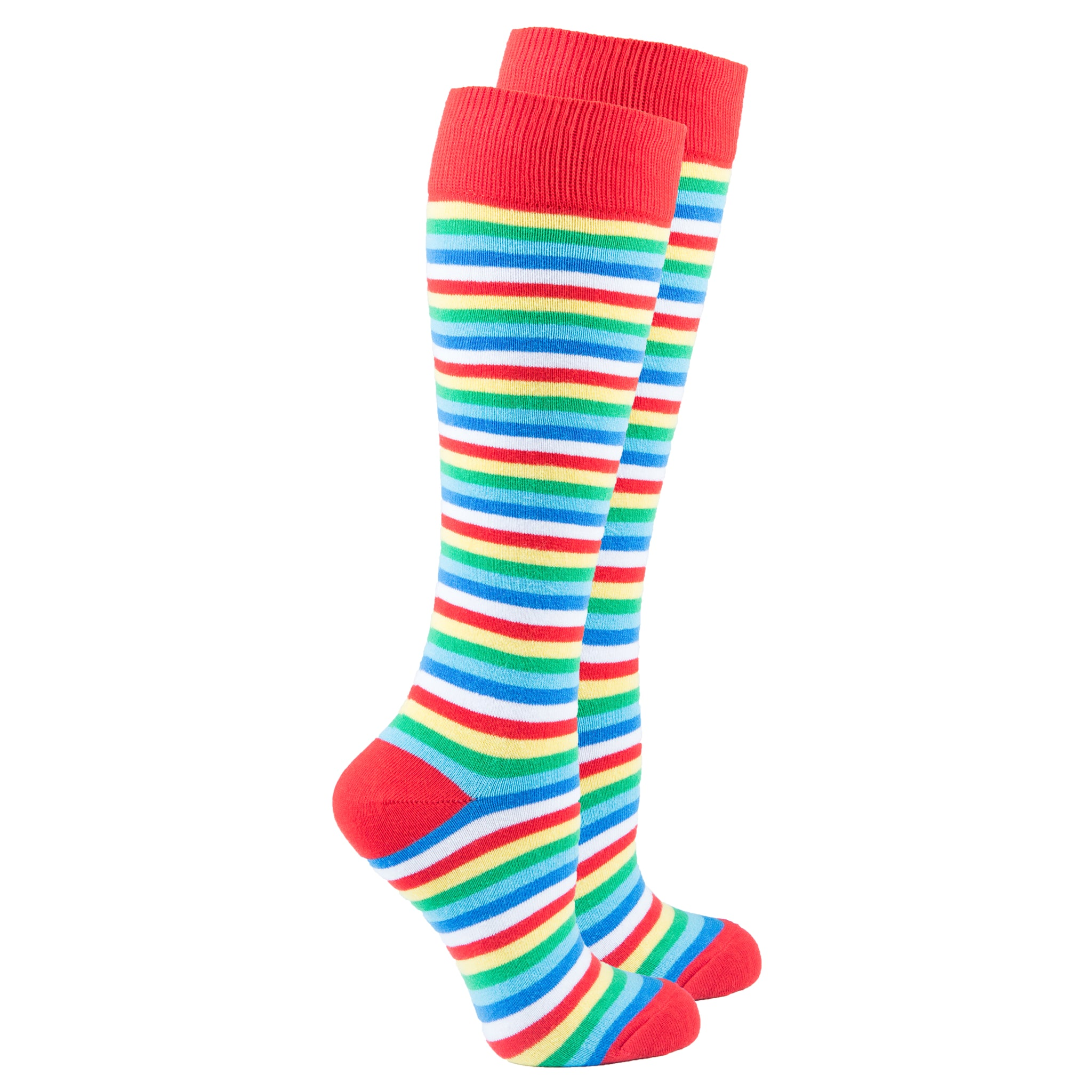 Women's Cherry Stripe Knee High Socks