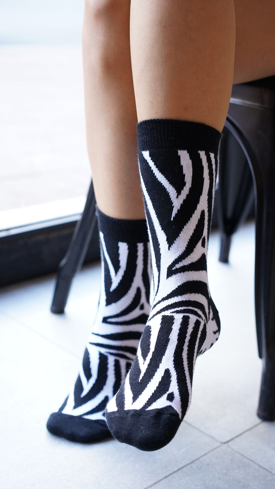 Women's Zebra Socks