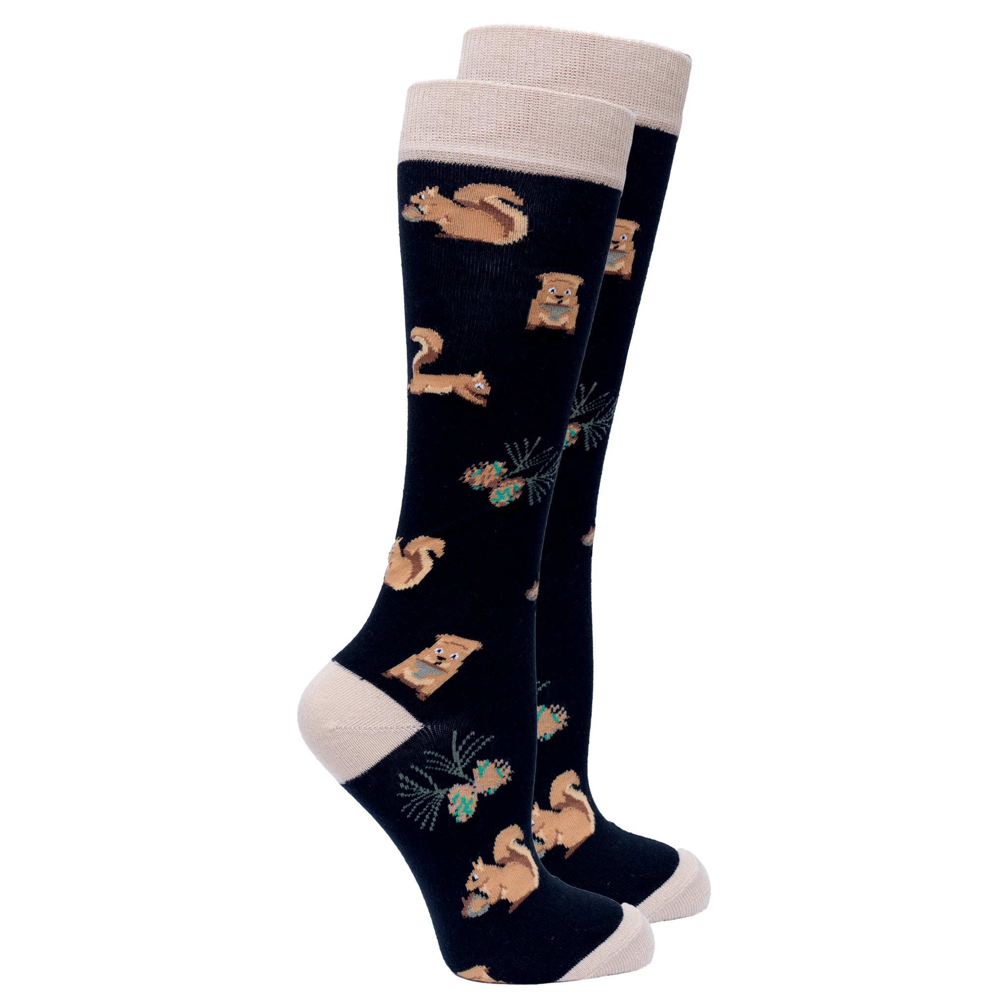 Women's Squirrel Knee High Socks