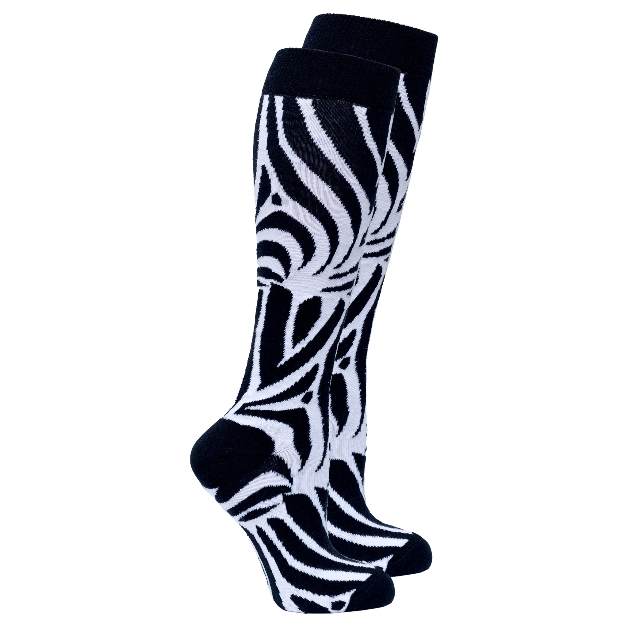 Women's Zebra Knee High Socks