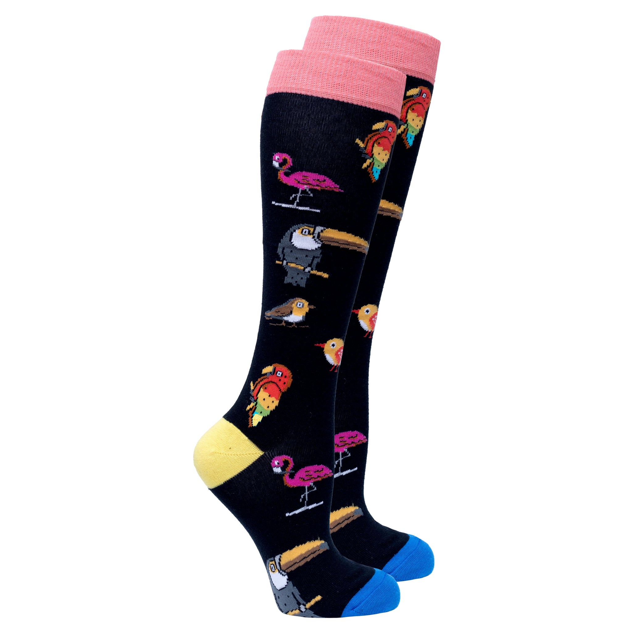 Women's Wild Birds Knee High Socks