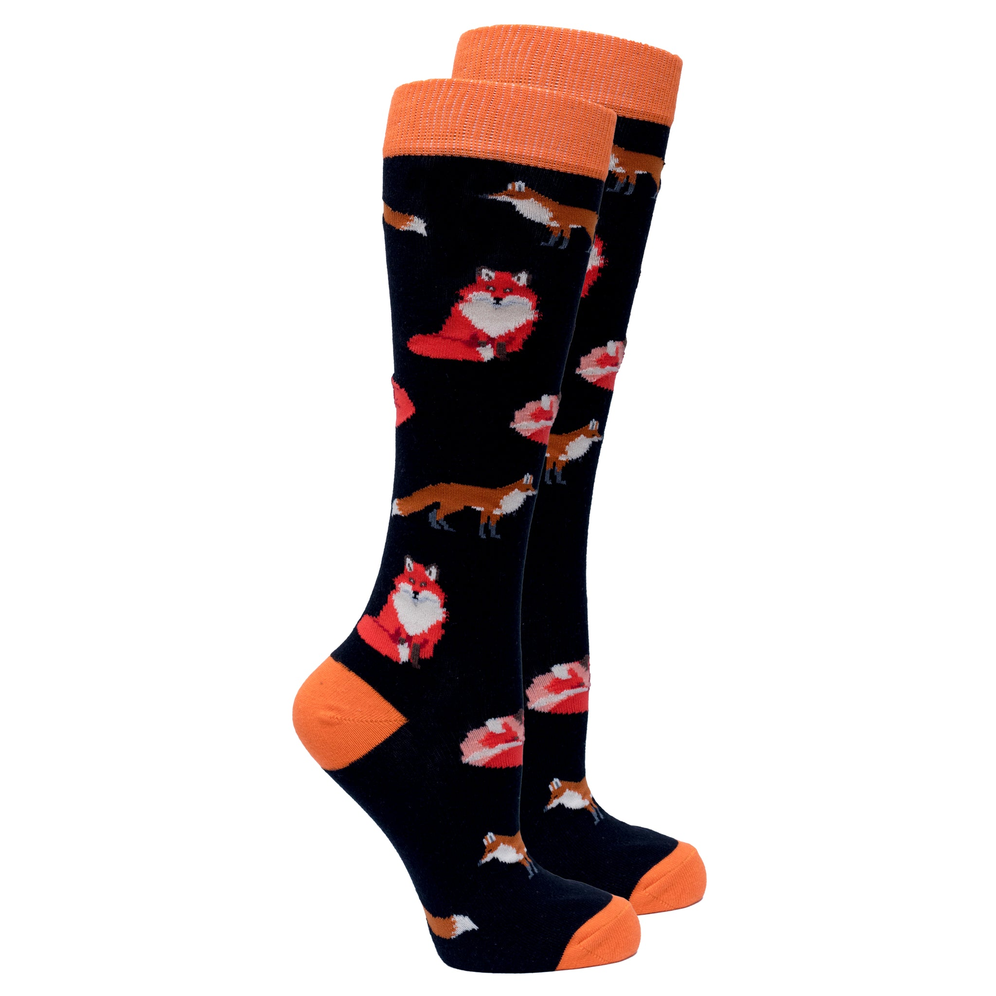 Women's Sneaky Fox Knee High Socks