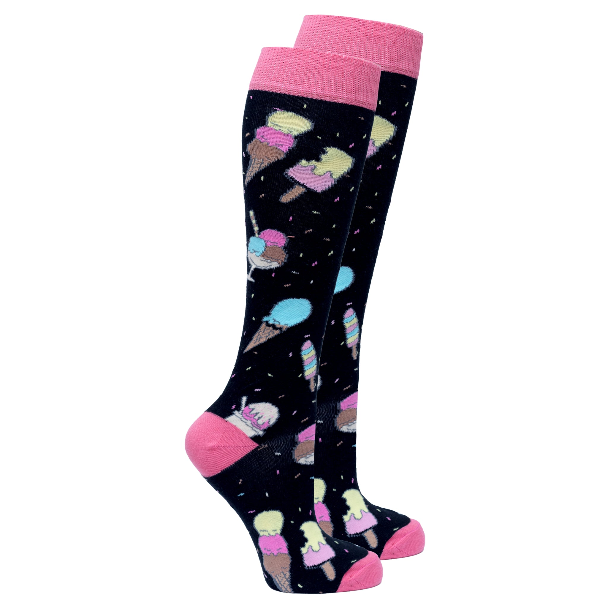 Women's Ice Cream Paradise Knee High Socks