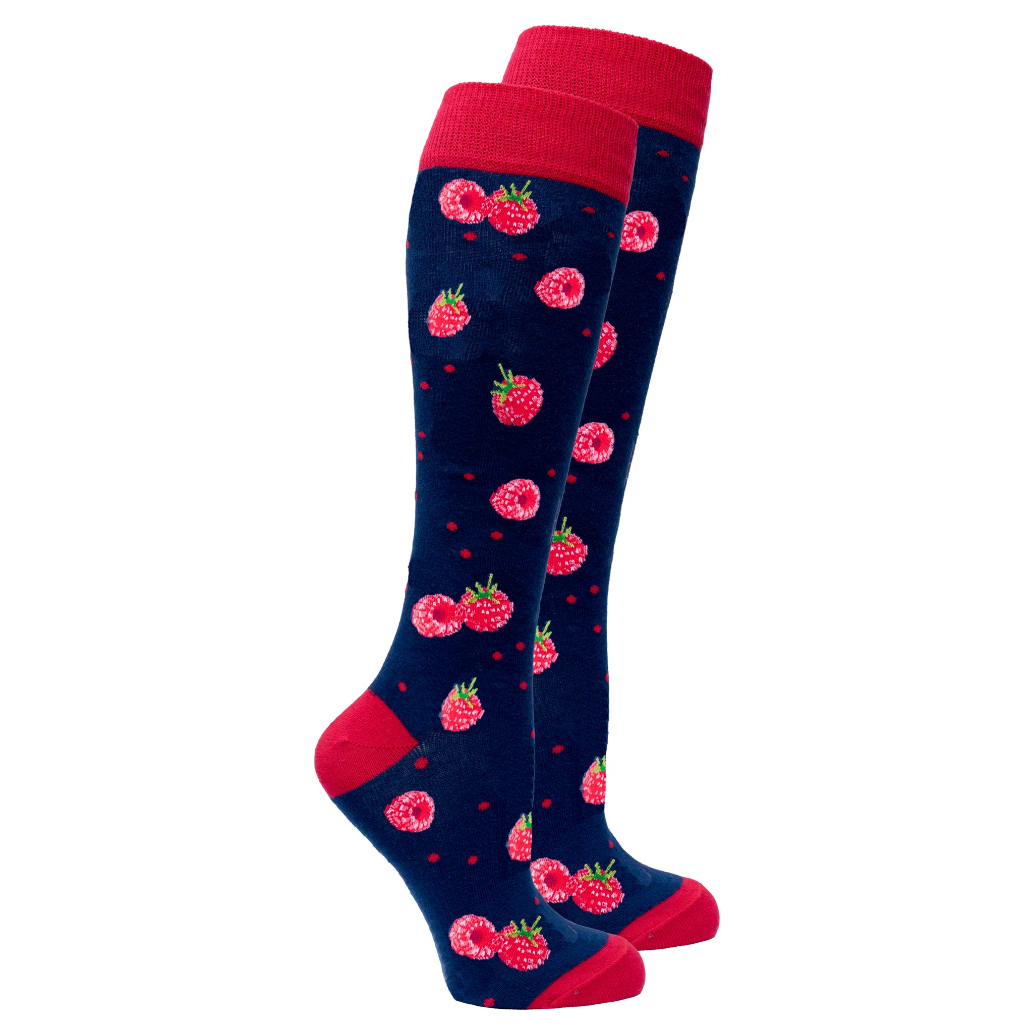 Women's Raspberry Knee High Socks