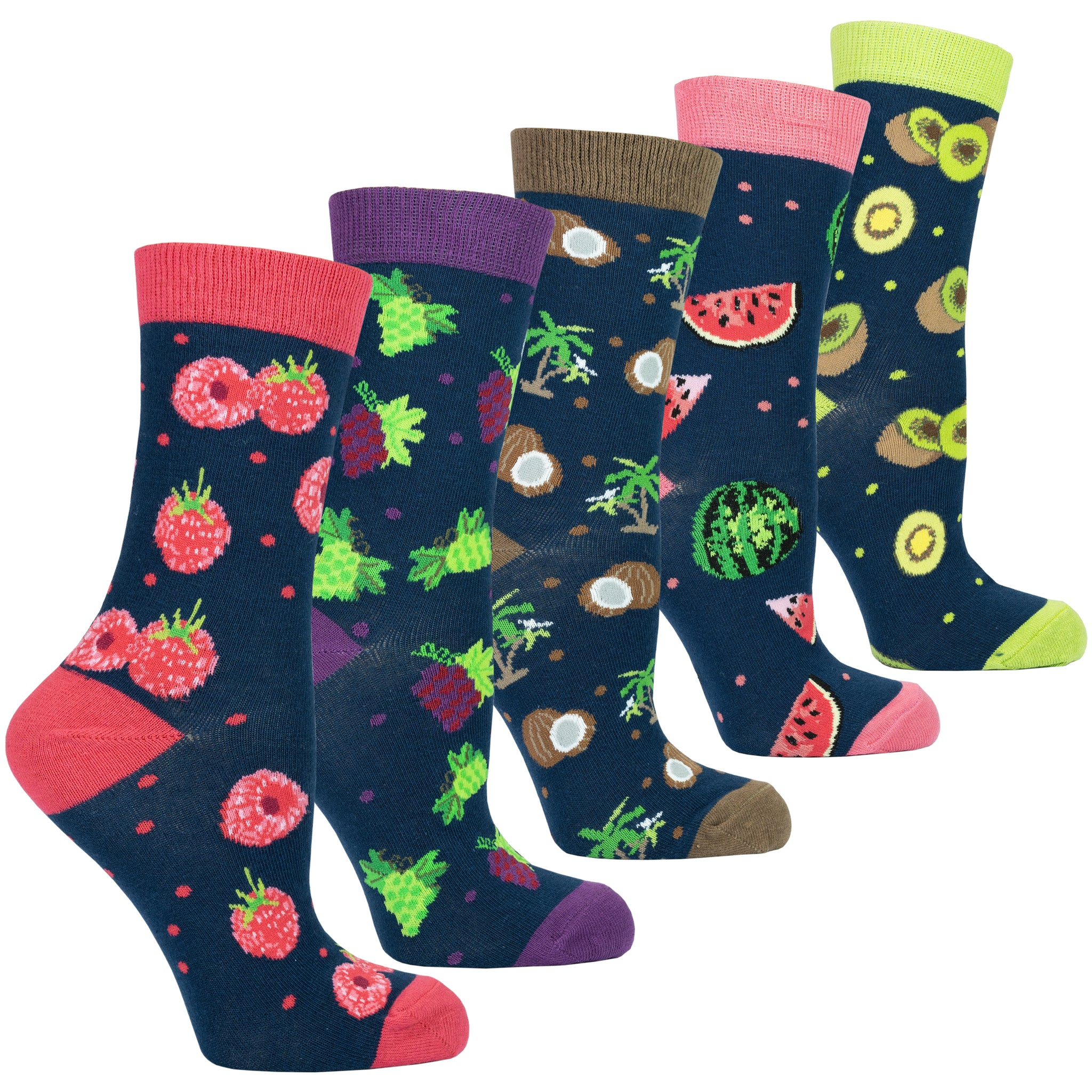 Women's Delightful Fruits Socks Set