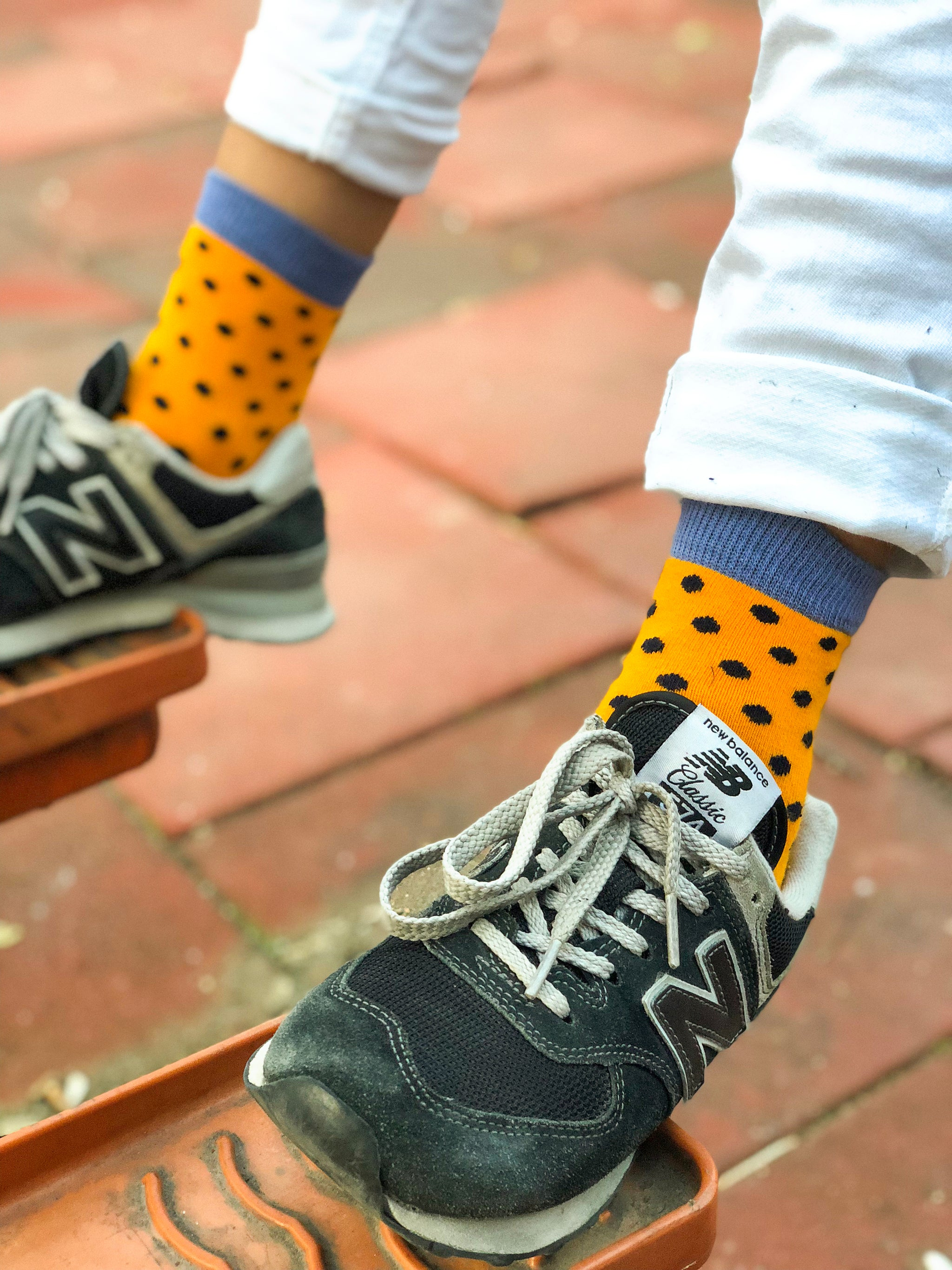 Kids Apricot Dot Socks