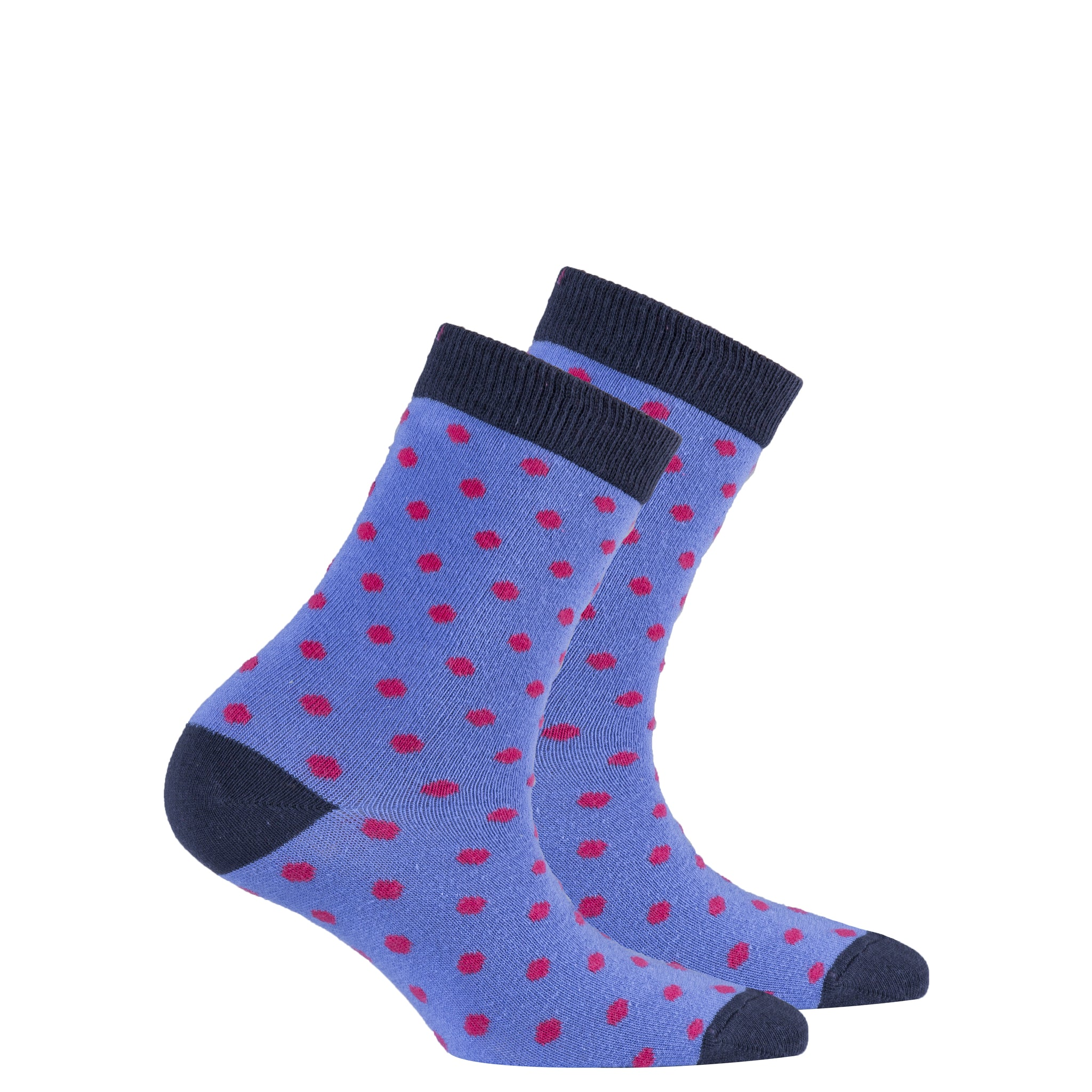 Kids Violet Dot Socks
