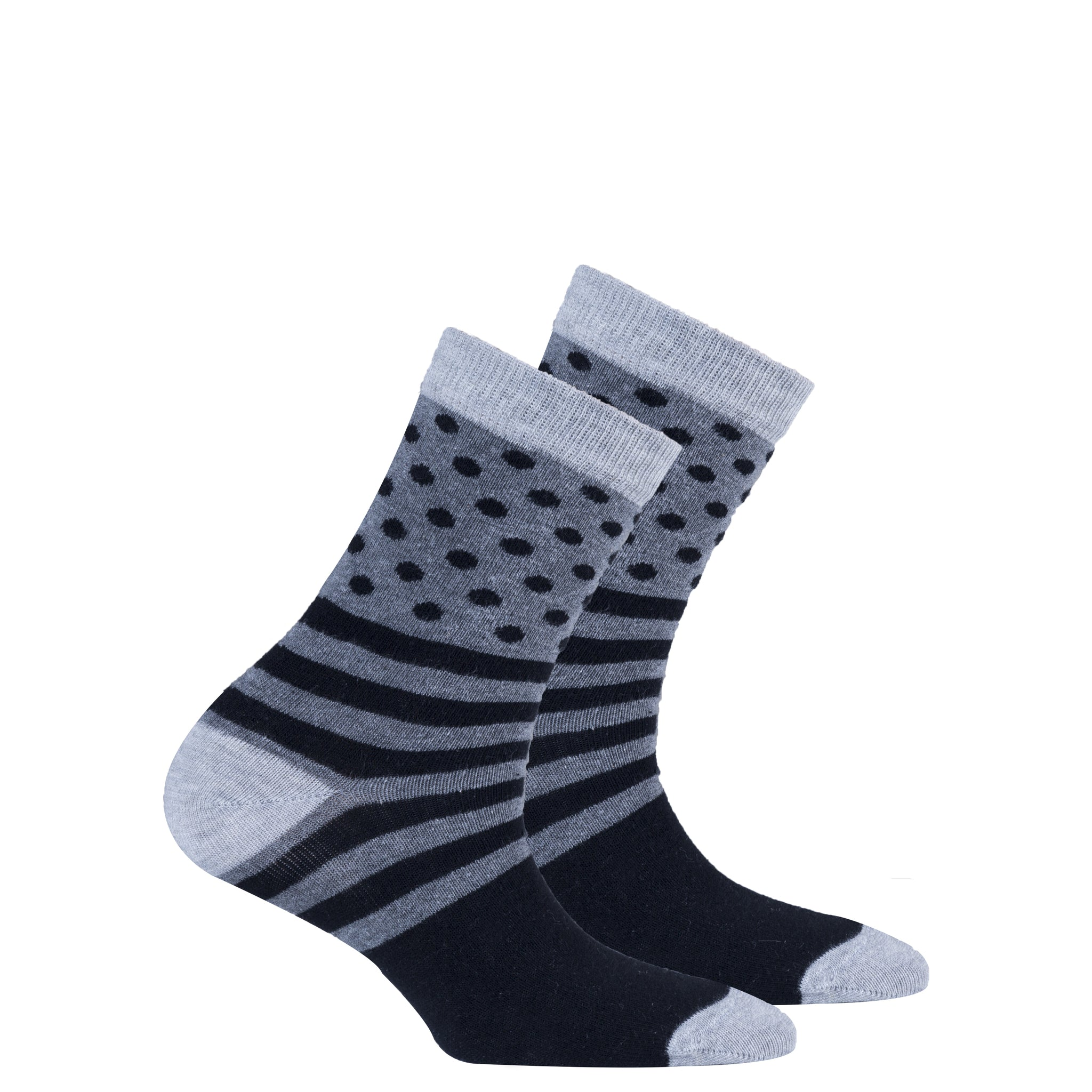 Kids Stone Dot Stripe Socks