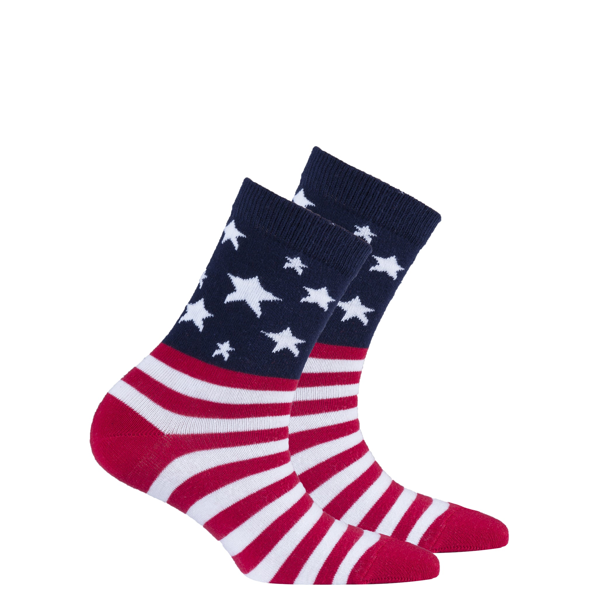 Kids Usa Flag Stars Socks