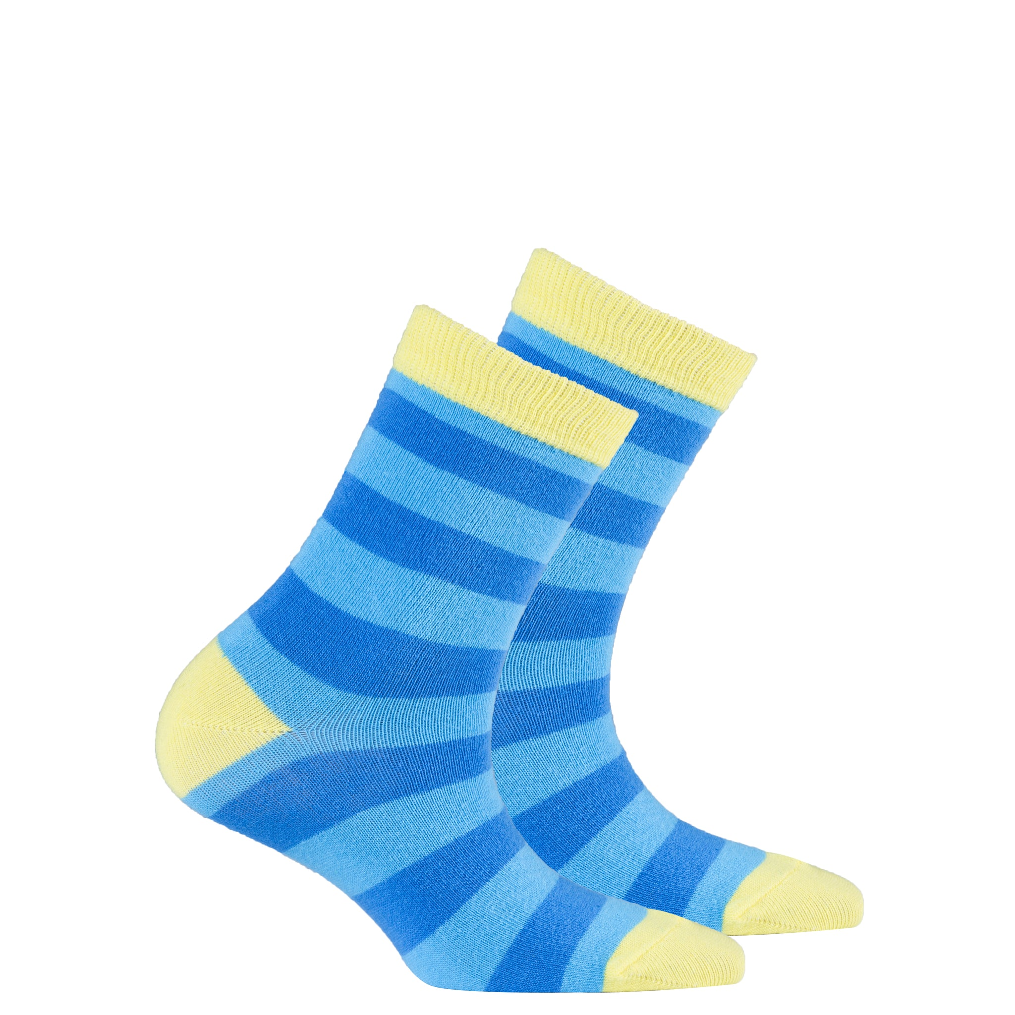 Kids Yellow Sky Stripe Socks
